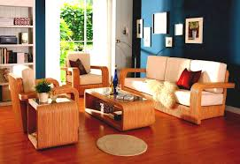 living room design with brown leather sectional home decor