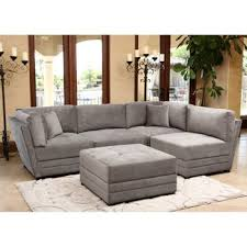 leyla 5 piece fabric modular sectional costco living room