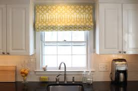 fully lined with floral pattern design curtains kitchen window