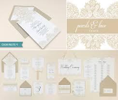 Vintage Lace Wedding Invitations Diy Elegant Lace Wedding Invitation Template Suite