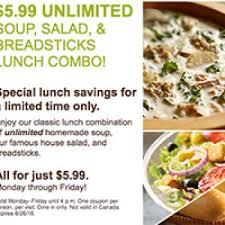 Olive Garden 5 99 For Unlimited Soup Salad - olive garden lunch 6 99 unlimited soup salad breadsticks free
