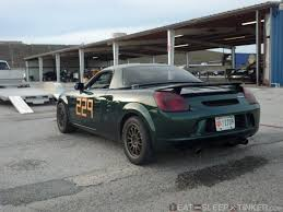 nissan spyder eat sleep tinker first track experience with the mr2 spyder