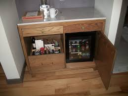 Wine Cabinet Furniture Refrigerator Furniture Small Oak Wooden Fridge Cabinet With Storage And Drawer