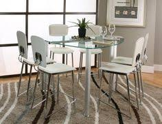 Triangular Kitchen Table by Triangular Modern Tracy Glass Counter Height Table U0026 Chrome Stools