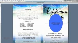10 best images of blank funeral program template free blank