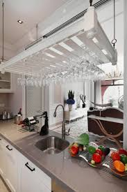 european style white kitchen cabinets and ceiling interior design