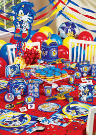 sonic party supplies sonic the hedgehog birthday nathaniels brithday