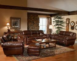 living room interesting brown leather living room sets genuine