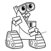 walle coloring pages coloring page wall e pixar 6356