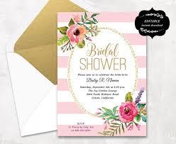 printable bridal shower invitations blush pink floral bridal shower invitation template printable