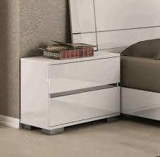 dream contemporary bedside cabinets in white high gloss