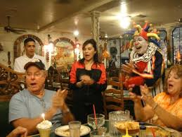 singing happy birthday waitress and manager singing happy birthday picture of pepe
