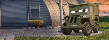 army jeep sarge characters disney cars