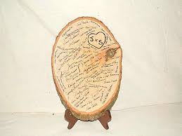 guest book pen wood slice guestbook what pen to use