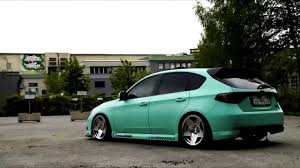 green subaru hatchback scandic stance static impreza hatch youtube