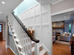 Ideas For Staircase Walls Decorating Stair Walls Staircase Eclectic With Curtain Panel Frame