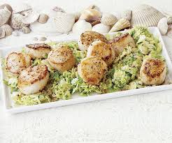 Main Dish With Sauce - sea scallops with brussels sprouts and mustard sauce finecooking