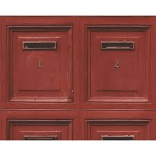 as creation post box pattern wallpaper letter mural wood effect 307453