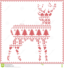 scandinavian norwegian style winter stitching knitting christmas