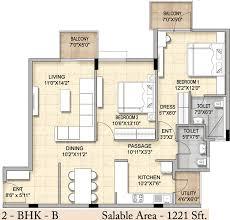 1221 sq ft 2 bhk 2t apartment for sale in bren trillium hosa road