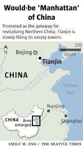 Tianjin China Map China Slowly Fills Empty Towers Of Manhattan Like Megaproject