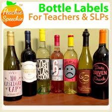 bottle labels by peachie speechie teachers pay teachers