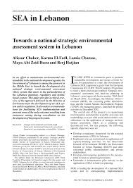 Inno Infr by Towards A National Strategic Environmental Assessment System In
