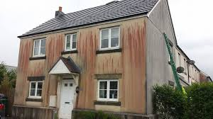 Clean Wall Stains by Stained Exterior Walls Delabole Colin Squire Building Contractors