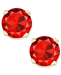garnet stud earrings garnet earrings shop garnet earrings macy s