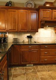 travertine kitchen brick fascia tiles waterstone annapolis faucet