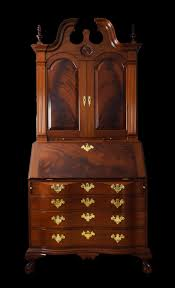 Queen Anne Secretary Desk by Buy A Handmade Secretary Desk Upper Bookcase Solid Mahogany