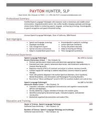 Ultrasound Resume Examples by Best Speech Language Pathologist Resume Example Livecareer