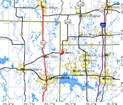 hurst map hurst illinois il 62949 profile population maps real estate
