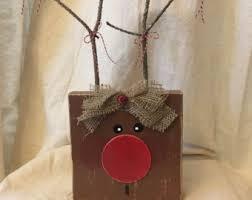 Outdoor Wooden Reindeer Christmas Decorations by Wooden Reindeer Etsy