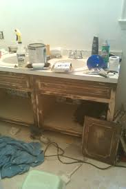 How To Paint A Table by Before U0026 After My Pretty Painted Bathroom Vanity