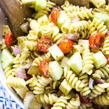 Pasta Salad by Italian Pesto Pasta Salad Recipe Real Housemoms