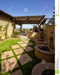 desert mansion home back yard stock image image 23797785