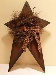 country star home decor star and wreath berries country primitive home decor country