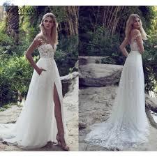 lace wedding dresses lace wedding dresses tulle skirt appliques high split