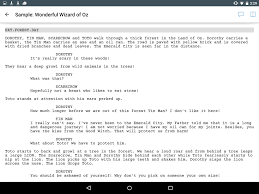 scarecrow writing paper celtx script android apps on google play celtx script screenshot