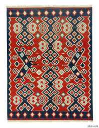 k0008836 red new turkish kilim rug kilim rugs overdyed vintage