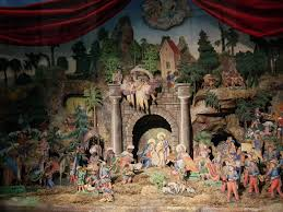 lighted outdoor nativity with outdoor lighting