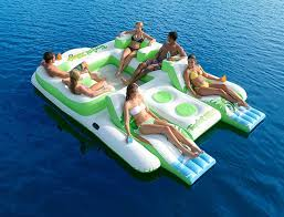 Inflatable Pool Floats by Large Swimming Pool Float Tfloating Island Inflatable Swim