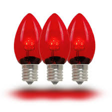 Red Light Fixture by Red Led C7 Glass Christmas Bulbs Novelty Lights