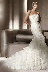 Wedding Dresses For Sale Organza Ruffled Wonderful Mermaid Wedding Dress For Sale Buy Cheap