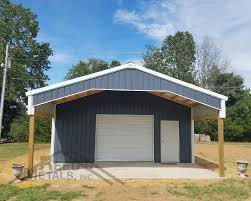 Smithville Barn Charcoal Gray Polar White Pole Barn Reed U0027s Metals