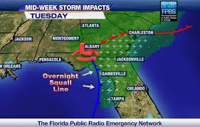 Florida Tornado Map by St George Island Escapes With Minor Damage From Tornado Wfsu