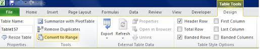 table tools design tab 5 2 intermediate table skills beginning excel