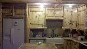 Handmade Rustic Log Kitchen Cabinets And Bar By Drew U0027s Up North