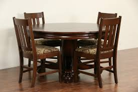 Oak Dining Room Sold Oak 1900 Antique 54